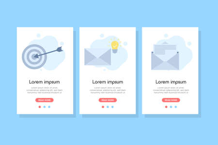 Smart email banner concept. design for web UI, mobile upp, banner, poster.Vector illustration