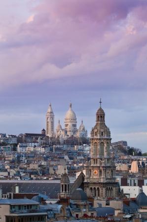 gaulle: The Basilica of the Sacred Heart - Sacr�-C ur, Paris at sunrise