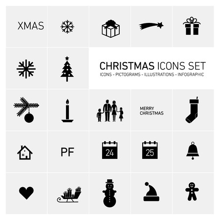christmas sock: Vector squares background illustration with icons, typography and pictograms of christmas   ready to place your content