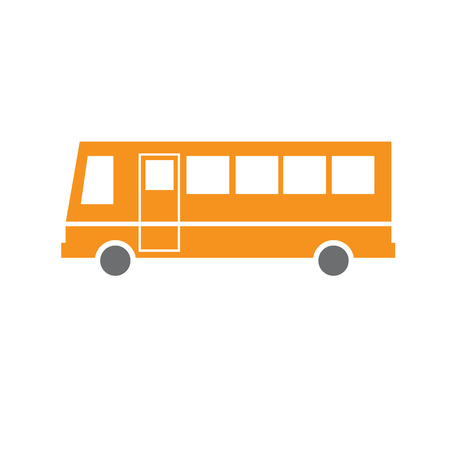 vector flat design bus transportation icon isolated on white background Vector