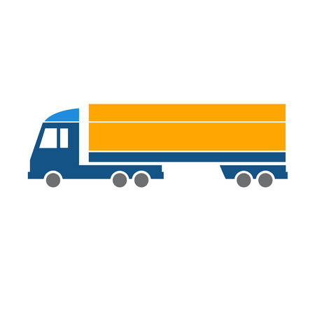 vector flat design truck transportation icon isolated on white background Vector