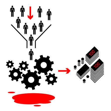 inconclusive: flat design business machine icon Illustration