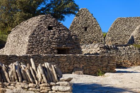 gordes: Bories village in Gordes, Luberon Provence, France Stock Photo
