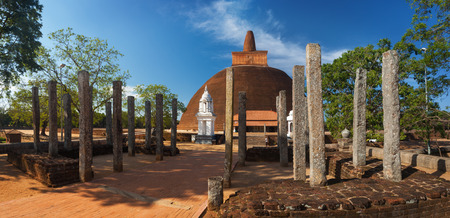 dagoba: Panoramic view of Abayagiri Dagoba in Anuradhapura, Srilanka, Asia