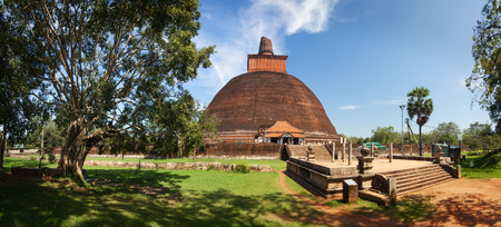dagoba: Panorama of Jetavan Dagoba in Anuradhapura, Sri Lanka, Asia Stock Photo