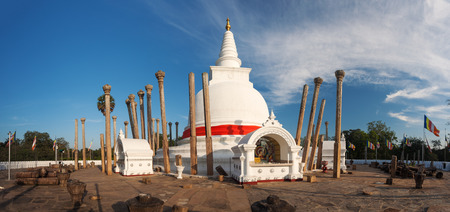 dagoba: Panoramic view of Thuparama Dagoba in Anuradhapura, Sri Lanka, Asia