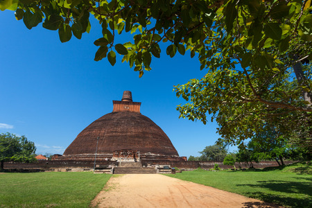 dagoba: View of the Jetavan the oldest Dagoba in Anuradhapura, Sri Lanka, Asia Stock Photo