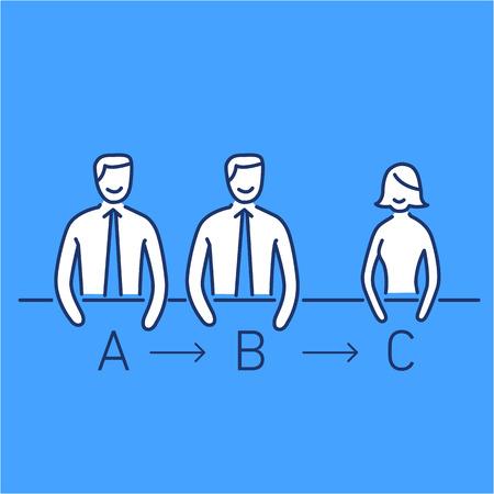 facilitating: Vector meeting management skills icon  Illustration