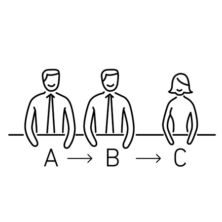 skill: Vector meeting management skills icon  Illustration