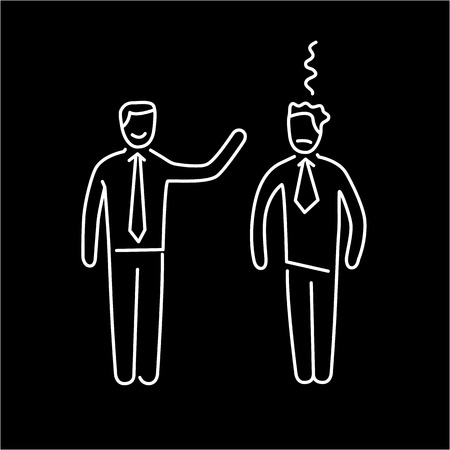 facilitating: Vector skills icon of dealing with difficult personalities  Illustration
