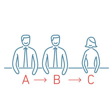 self training: Vector meeting management skills icon  Illustration