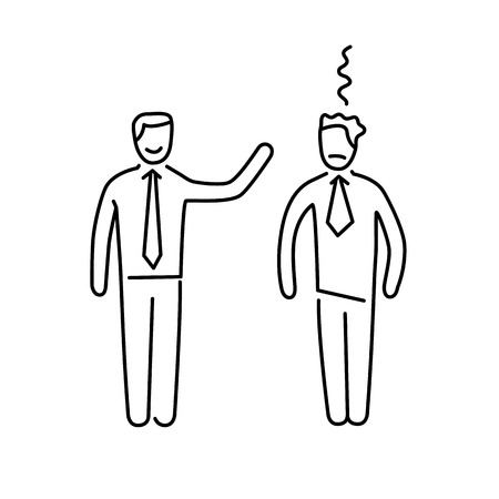 facilitating: Vector skills icon of dealing with difficult personalities