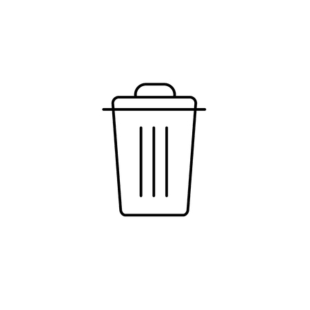 antipollution: Recycle bin ecology and environment vector icon and infographic black on white background