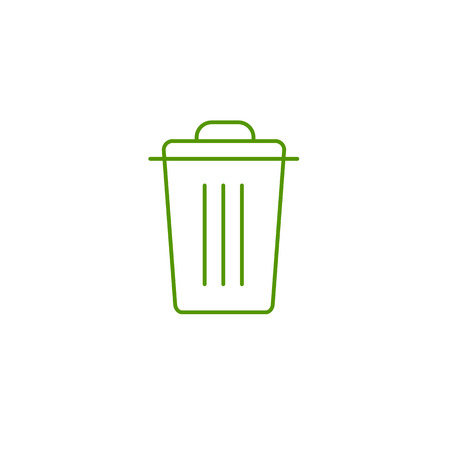 antipollution: Recycle bin ecology and environment vector icon and infographic green on white background