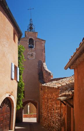 luberon: Famous street in beautifull village Roussillon Vaucluse, Luberon, Provence, France