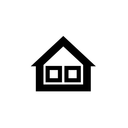 isolation: Conceptual vector passive house triple window isolation icon and pictogram | modern flat design illustration and infographic concept black on white background