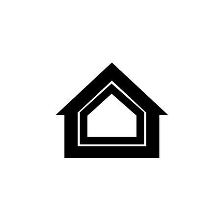 airtight: Conceptual vector passive house isolation icon and pictogram | modern flat design illustration and infographic concept black on white background