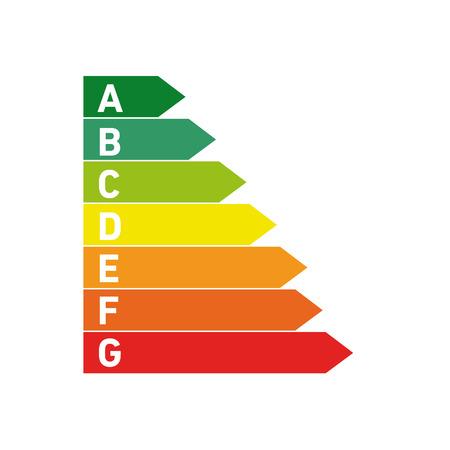 Vector conceptual icono de la casa pasiva hoja de energía y pictograma | moderna ilustración diseño plano y el concepto de infografía de colores sobre fondo blanco
