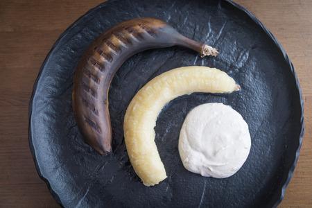 Grilled banana with mascarpone