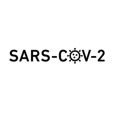 Sars Cov 2 icon. Vector concept illustration of Covid-19 virus | flat design infographic icon black on white background