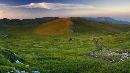 Stitched Panorama, Landscape of Crimea mountains, Ukraine photo