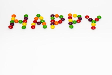 lenteja: Muestra feliz de hecho de los caramelos de colores de lentejas
