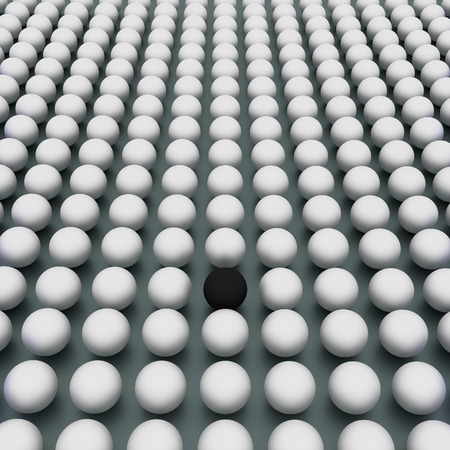exception: The special one, different from crowd, 3d abstract render