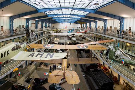 vintages: Prague, Czech Republic - September 21, 2013: Interior of National Technical Museum in Prague.