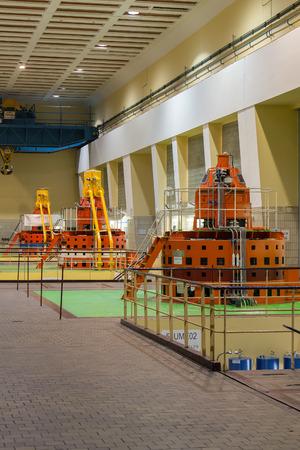 hydro power: Czech Republic, Prague, 26.9. 2014. Water turbine in hydro power station 30 km south of Prague on river Vltava.