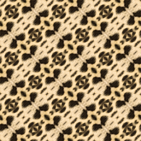 wild silky white: Abstract seamless background or texture geometric illustration based on leopard fur. Beautiful natural motive. Stock Photo