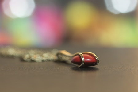 depth of field: Abstract image of necklace. Shallow depth of field.