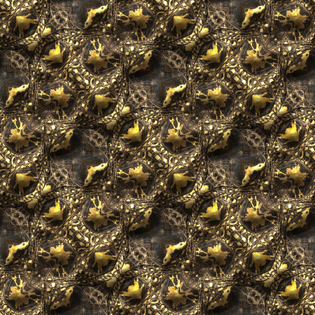 blooded: Alligator skin seamless background or pattern. Kaleidoscope abstract illustration.
