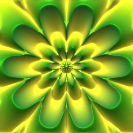 embossed: Abstract green embossed flower emblem