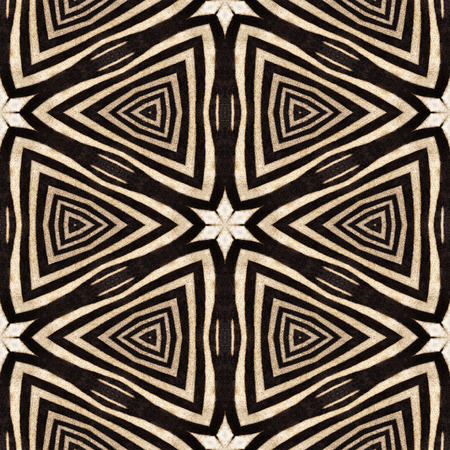 Kaleidoscope abstract seamless background of zebra stripes. Beautiful natural fur pattern.