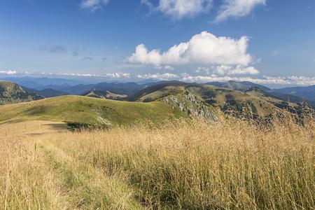 mala fatra: Panorama of Slovak Mountains in summer, Mala Fatra and Velka Fatra. Stock Photo