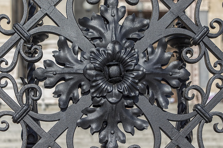 ironwork: Ironwork at the gate of old church.