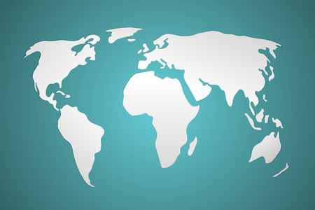 simplified: 3d world map vector illustration. Simplistic and schematic design. Illustration