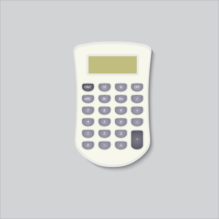 computation: Calculator vector icon in bright colors performed in detail.