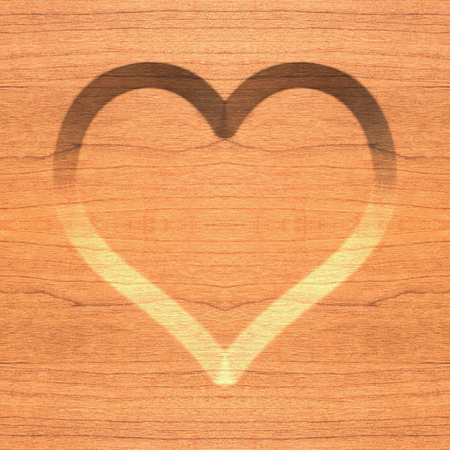 affairs: Wooden heart symbol, abstract seamless background. Stock Photo