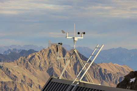 meteo: Meteo station in the mountains in Austria Alps.