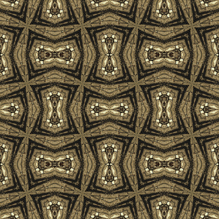greenish: Seamless texture based on old ancient tree bark, abstract pattern or background illustration. in greenish tone. Natural theme.