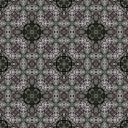 colored pencil: Seamless kaleidoscopic wallpaper tiles pattern drawn with colored pencil Stock Photo