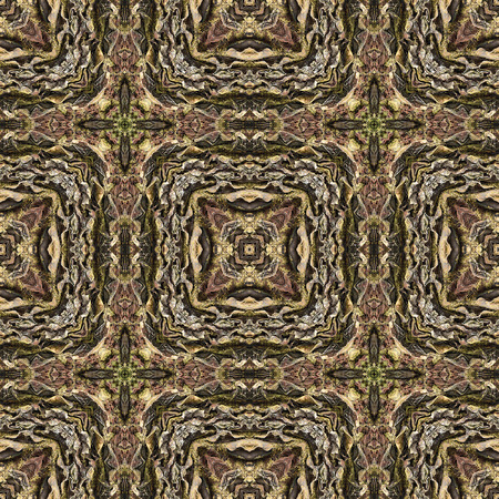 rinds: Oriental seamless wallpaper tiles pattern, based on bark of palm tree Stock Photo