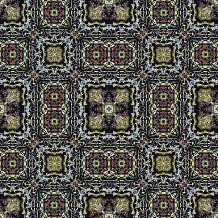 rind: Oriental seamless wallpaper tiles pattern, based on bark of palm tree Stock Photo
