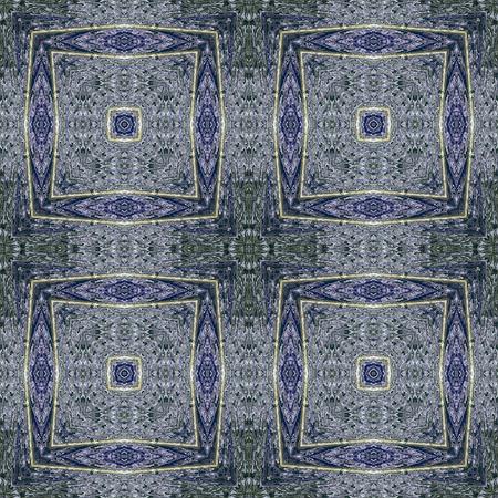 kaleidoscopic: Seamless kaleidoscopic wallpaper tiles, Stock Photo