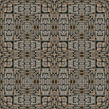 cobblestone street: Kaleidoscope abstract background. Seamless pattern. Stone pavement or cobblestones.