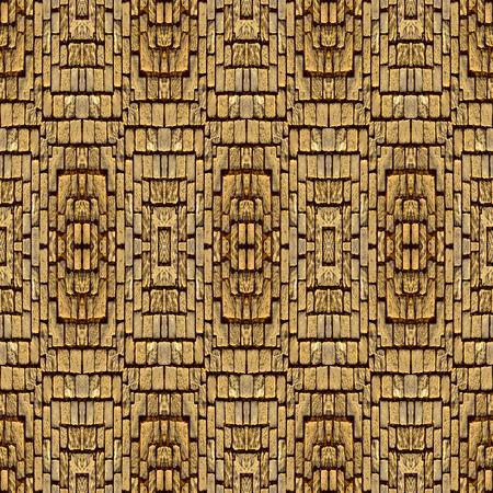 pavement: Kaleidoscope abstract background. Seamless pattern. Stone pavement or cobblestones.