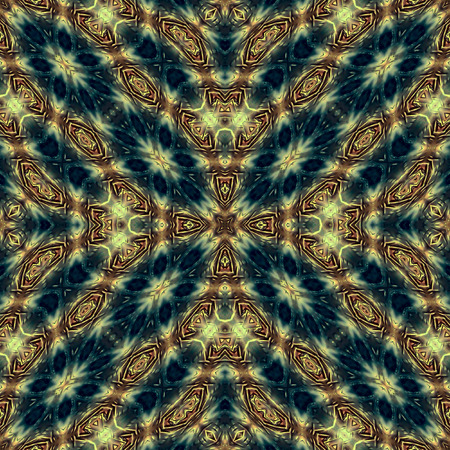 vintage wall: Kaleidoscopic abstract background. Seamless pattern. Feathers or plumage of a swan.