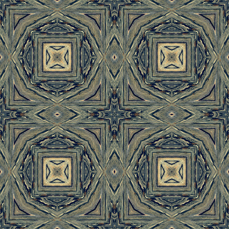Kaleidoscope abstract background. Seamless pattern. Based on surface of old wooden beam.