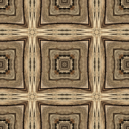 carpet design: Kaleidoscope abstract background. Seamless pattern. Based on surface of old wooden beam.
